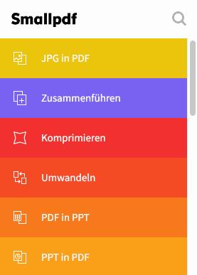 Smallpdf - PDFs zusammenführen