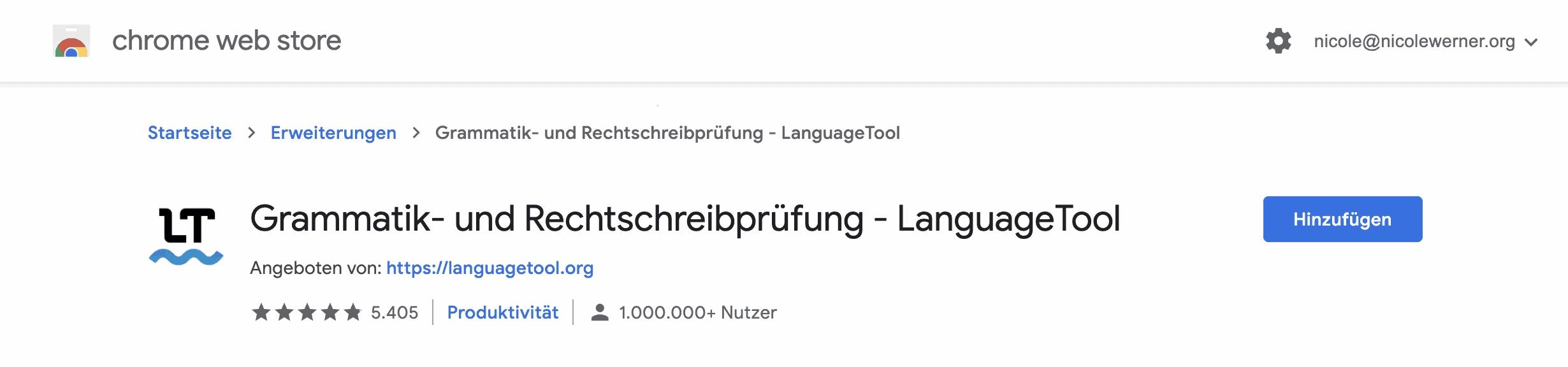 LanguageTool hinzufügen